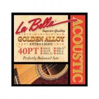La Bella Golden Alloy 40PT 10-50