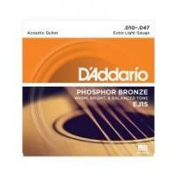 D`Addario EJ15 Fosfor Bronza, Extra Light 10-47
